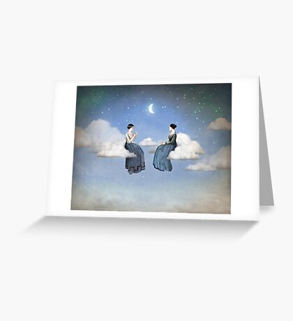 Wind, Clouds and Tea Greeting Card