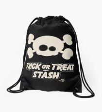 Cute Skull Trick or Treat Stash Drawstring Bag