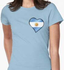 Argentine Flag - Argentina - Heart T-Shirt