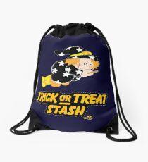 Cute Witch Trick or Treat Stash Drawstring Bag