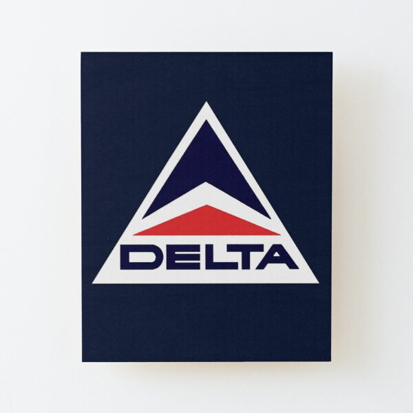 Vintage Delta Airlines Wood Mounted Print