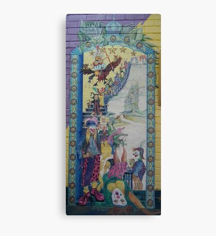 Opening of Scallyart - Mural on wall Canvas Print