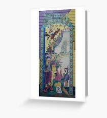 Opening of Scallyart - Mural on wall Greeting Card