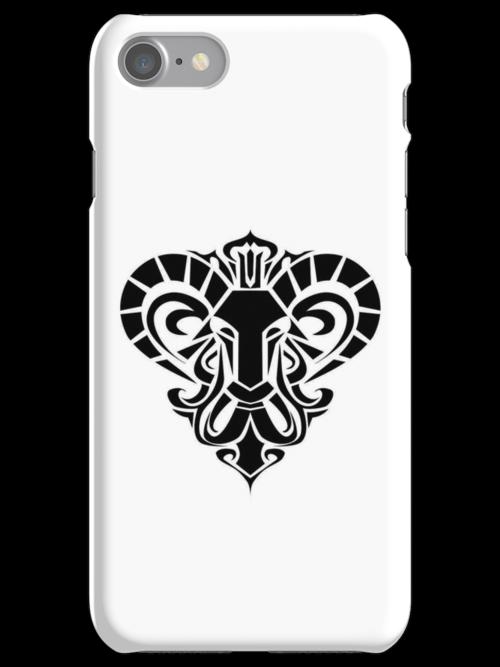 Aries Black iPhone case by elangkarosingo