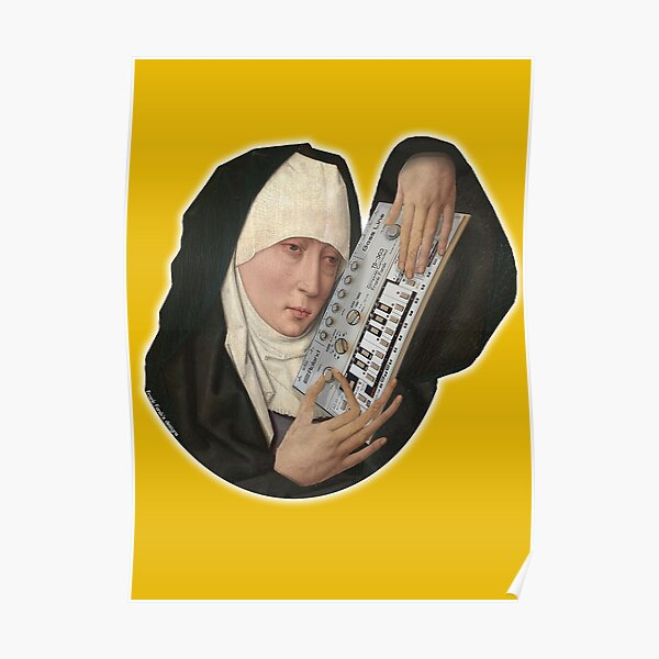 Mater Dolorosa meets Roland TB 303, by Frank Fonik. Original HD  Poster
