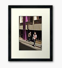 on a mission Framed Print