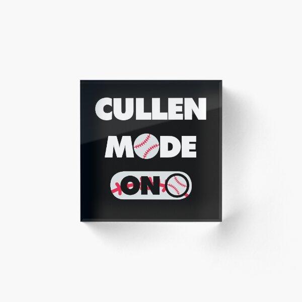 Cullen Baseball Player Mode On Acrylic Block