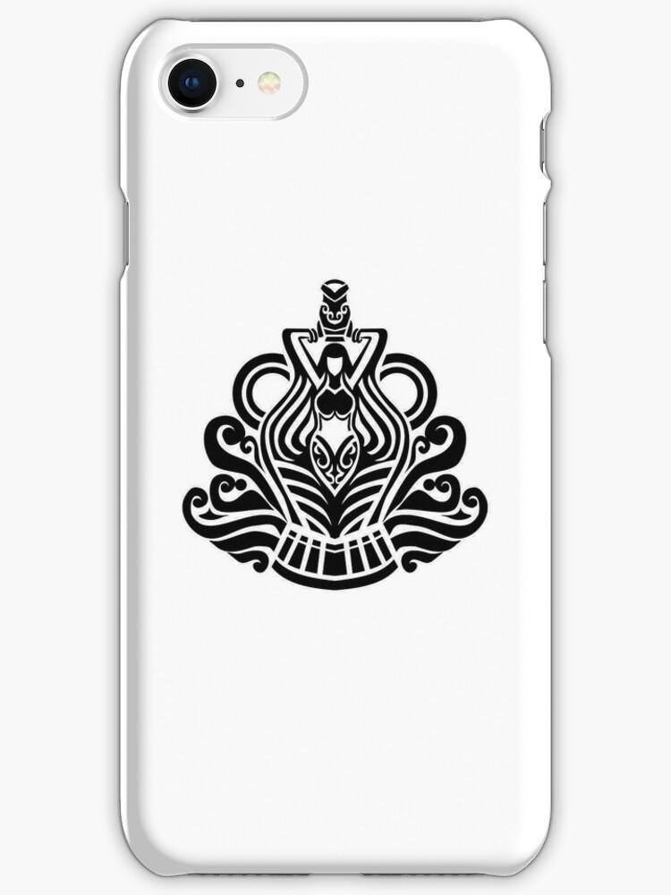 Aquarius Black iPhone case by elangkarosingo