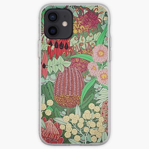 Australian Natives Botanical Pattern iPhone Soft Case