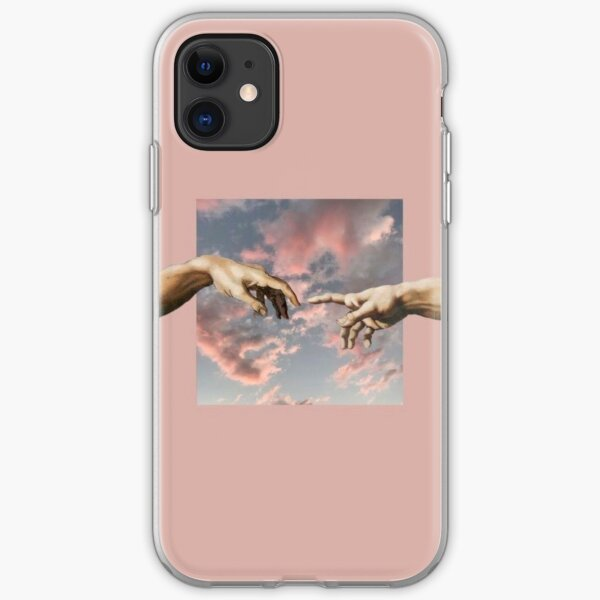 Creation Of Adam Aesthetic Hands iPhone Soft Case