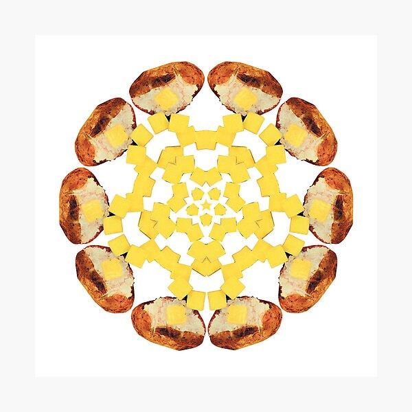 Buttered Baked Potato Mandala Photographic Print