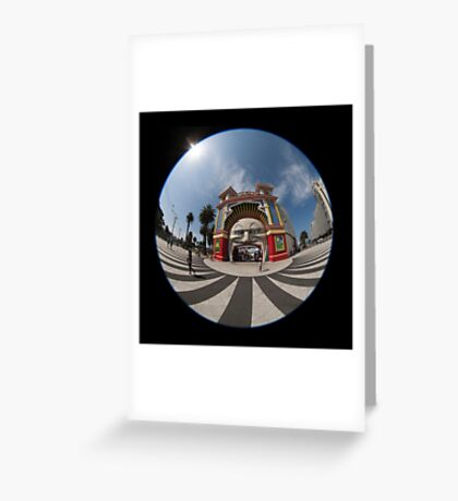 Luna park, Melbourne, Australia Greeting Card