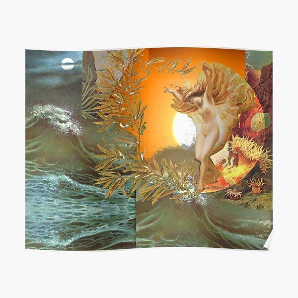 Ocean Sun Goddess Poster