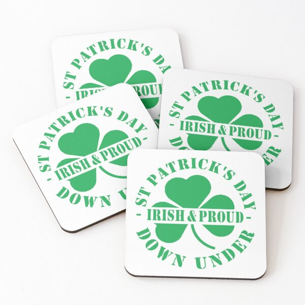 St Patricks Day Official Drinking Team Since 1762 Coasters (Set of 4)