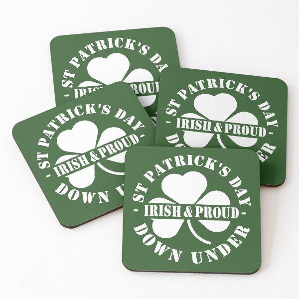 St Patricks Day Down Under Irish and Proud Coasters (Set of 4)