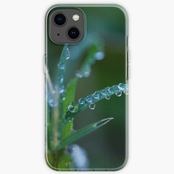 Water drops on leaves (1) iPhone Soft Case