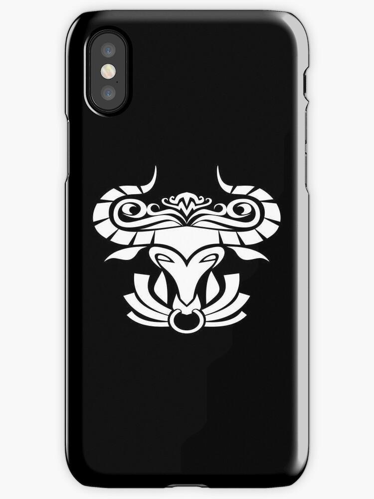 Taurus White iPhone case by elangkarosingo
