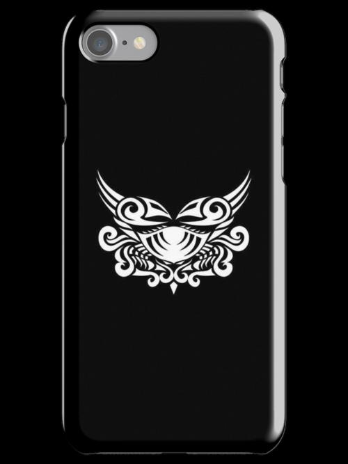 Cancer White iPhone case by elangkarosingo