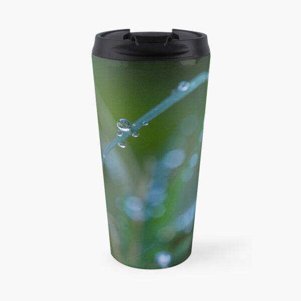 Water drops on leaves (2) Travel Mug
