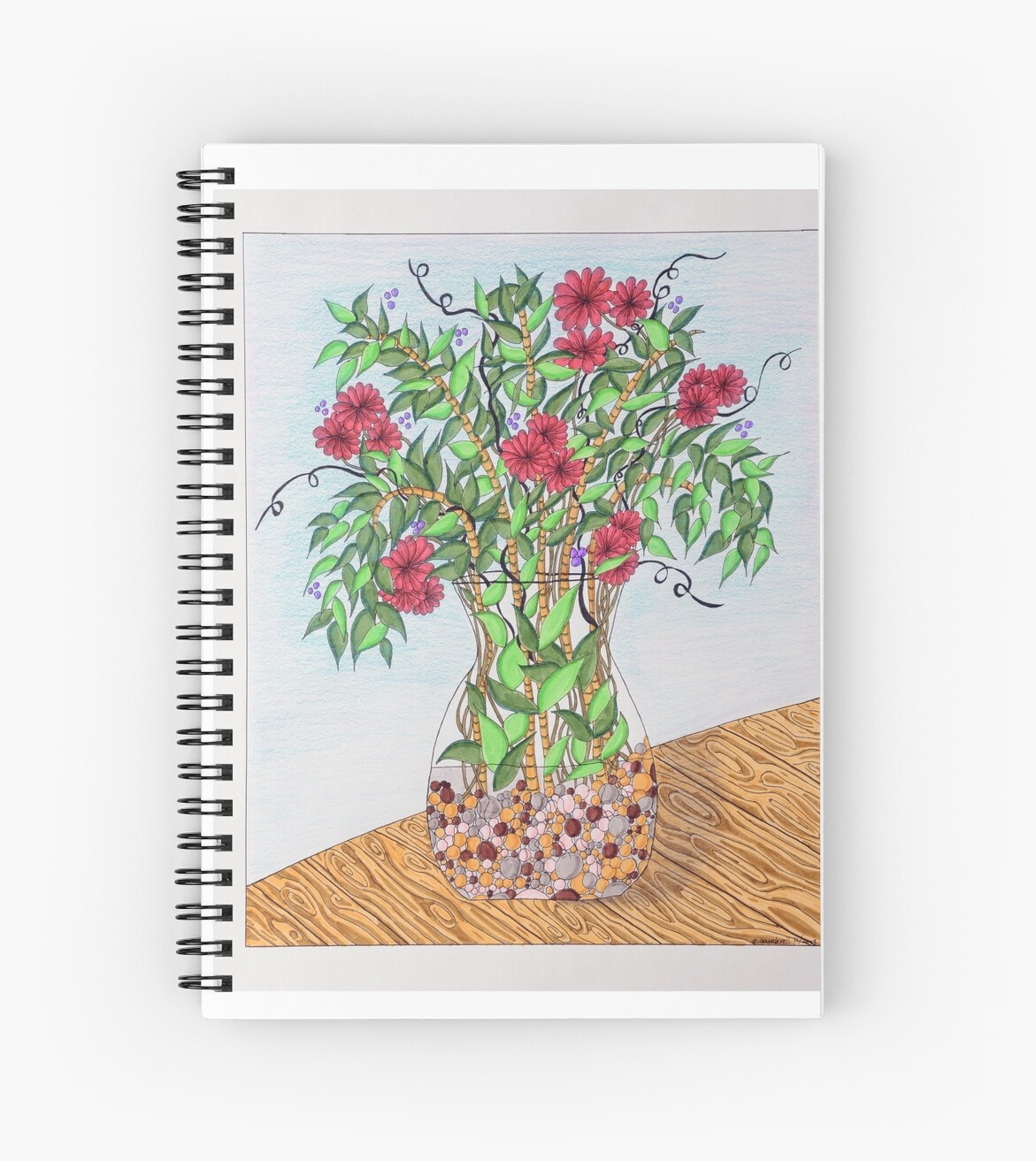 Flowers/21 - Clear Vase with Pebbles/1 by EllenGambrell