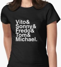 Vito & Sonny & Fredo & Tom & Michael (The Godfather) Women's Fitted T-Shirt