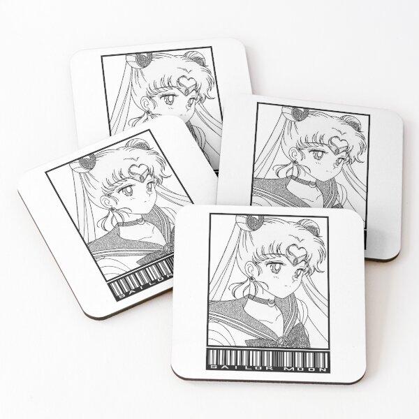 Sailor Moon Classic 4 Plastic Coaster Set Anime Manga NEW