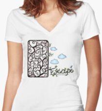 Escape (for light t-shirt colours) Women's Fitted V-Neck T-Shirt