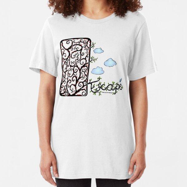 Escape (for light t-shirt colours) Slim Fit T-Shirt