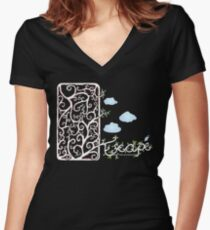 Escape (for dark t-shirt colours) Women's Fitted V-Neck T-Shirt