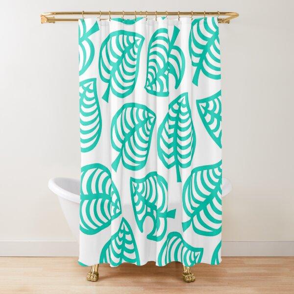 Big Nook Leaf White Shower Curtain