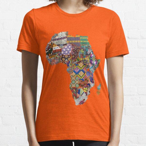 LyneCrea African Print Patchwork Essential T-Shirt