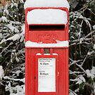 Snow covered post box by Andrew Duke