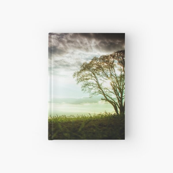 German Wirehaired Pointer Sunset Hardcover Journal