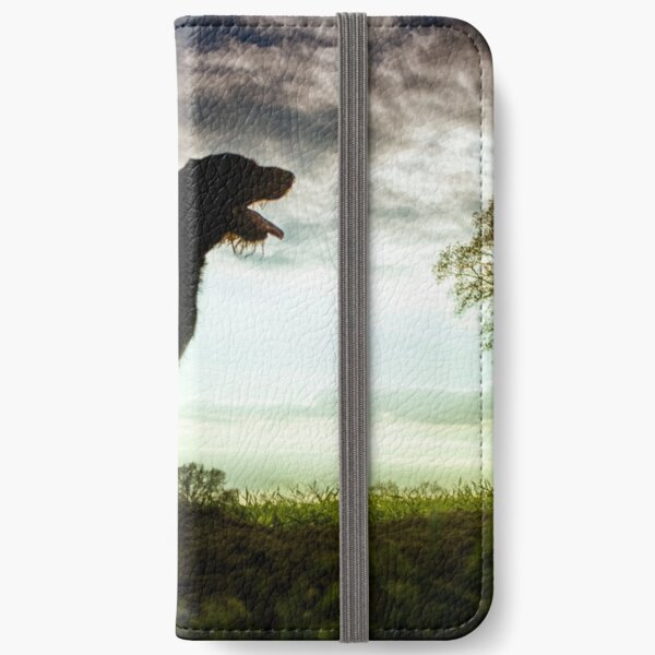 German Wirehaired Pointer Sunset iPhone Wallet