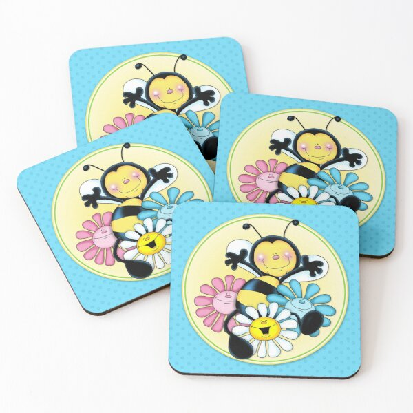 Just Bee Coasters (Set of 4)