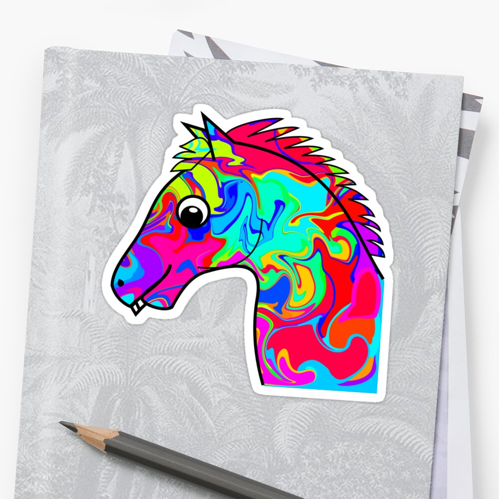 Colorful Horse by ChrisButler