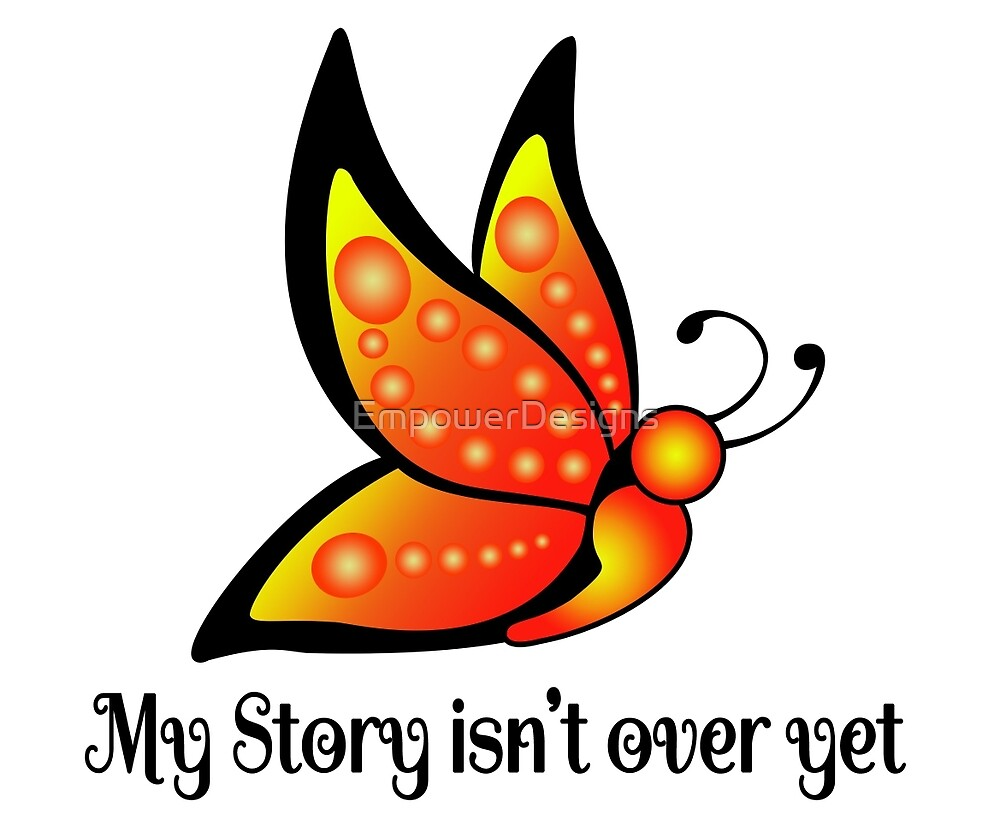Semicolon Suicide Depression Awareness Butterfly by EmpowerDesigns