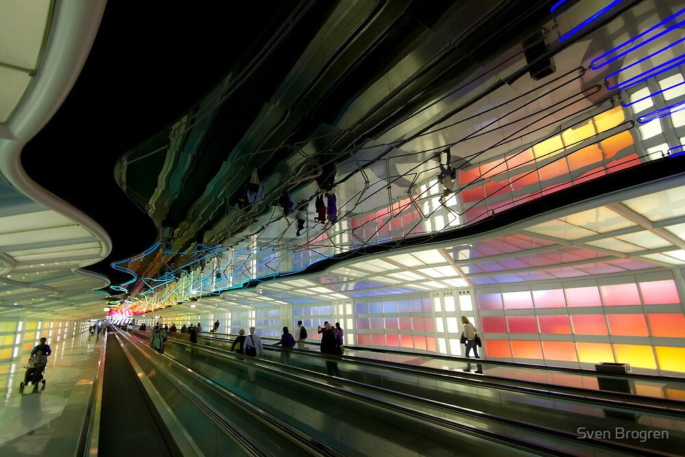 the neon filled united terminal by Sven Brogren