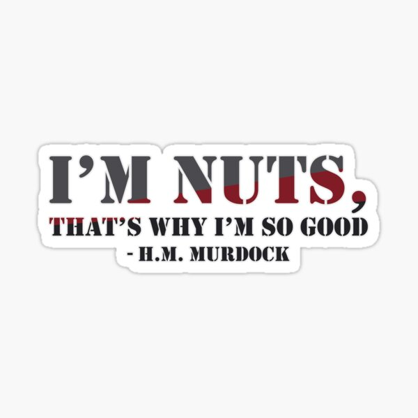 I'm nuts Sticker
