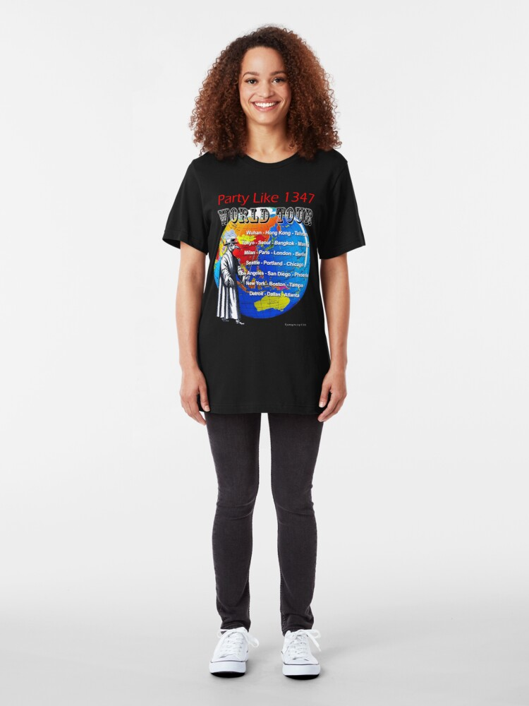 Alternate view of Party Like 1347 World Tour Slim Fit T-Shirt