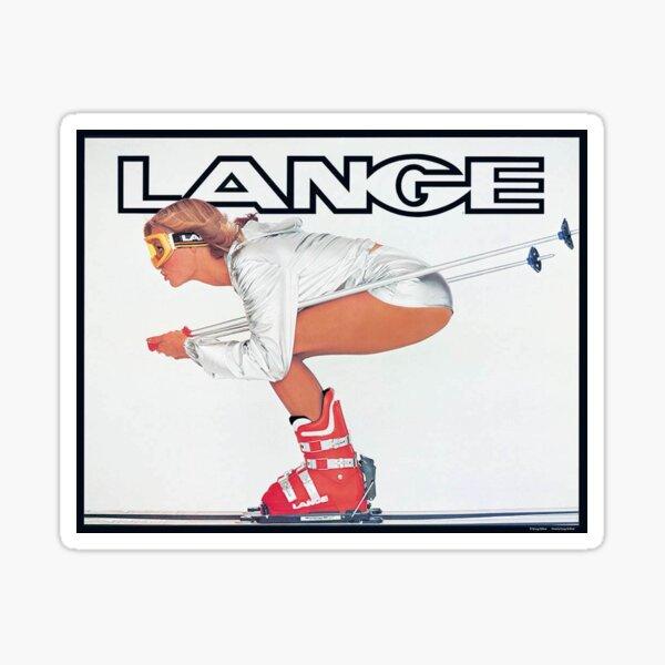 Lange Ski Girl  Sticker