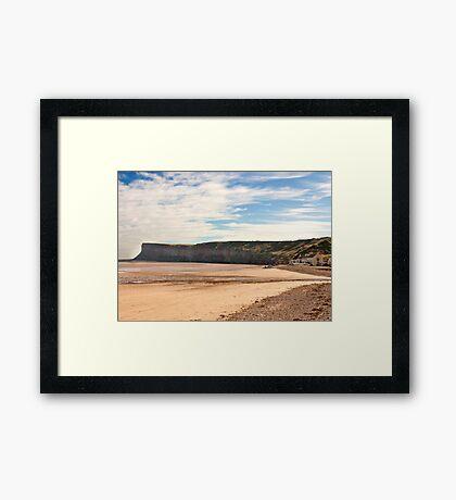 The Beach - Saltburn. Framed Print