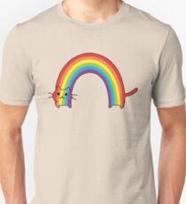 Camiseta ajustada Rainbow Cat