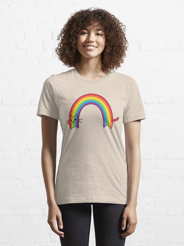 Alternate view of Rainbow Cat Essential T-Shirt