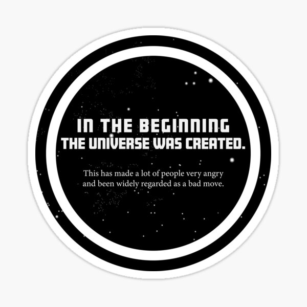 Douglas Adams Sticker