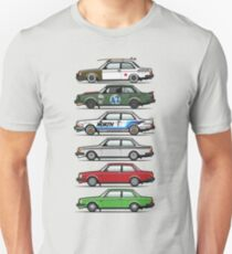 Stack Of Volvo 242 240 Series Brick Coupes T-Shirt