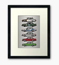 Stack Of Volvo 242 240 Series Brick Coupes Framed Print