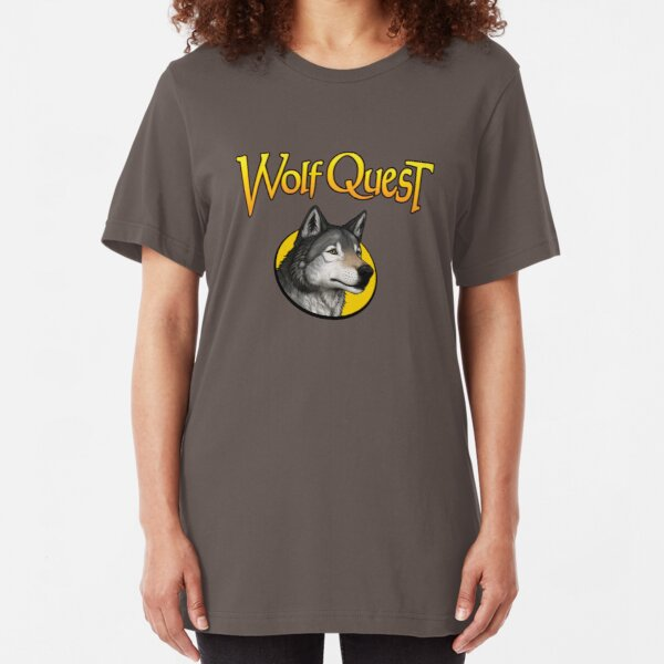 WolfQuest logo Slim Fit T-Shirt