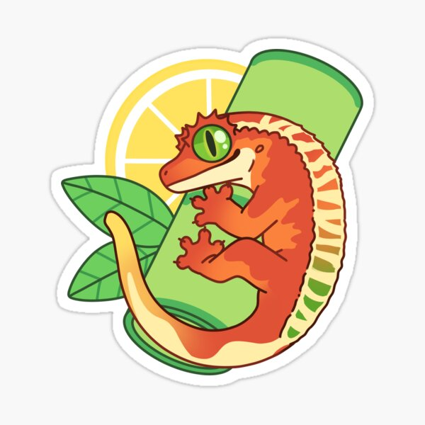 Colorful Crested Gecko Sticker