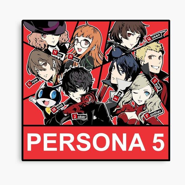Persona 5 phantom thieves (red background) Canvas Print